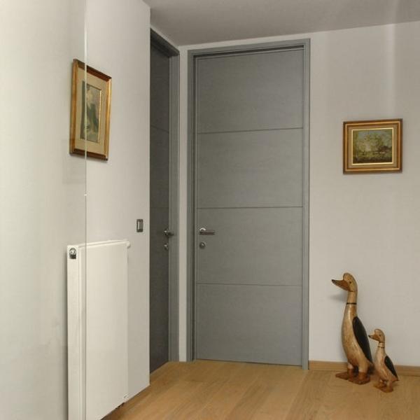 Porte en bois peint style moderne