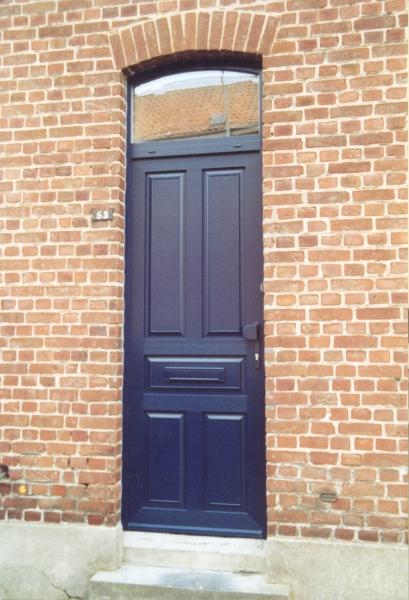 Porte PVC bleu modèle Degas