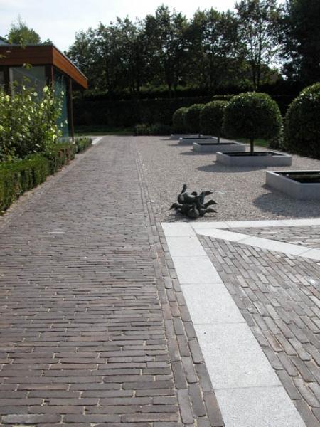 Pavés en terre cuite ancienne Belgique Lave