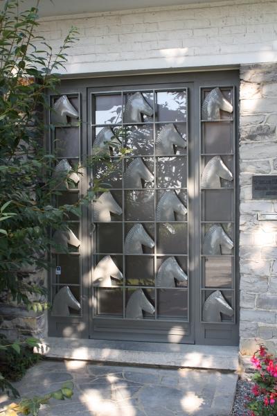 Porte Aluminium avec fer forgé