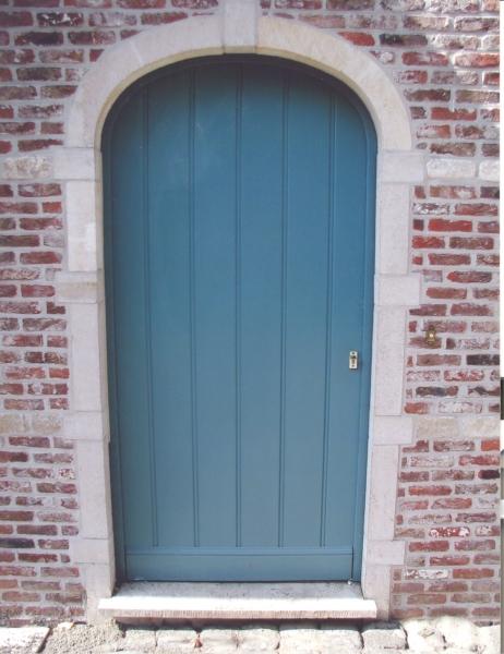 porte d'entrée bois rainure retro