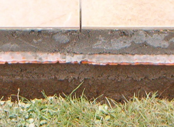 Terrasse avec drainage