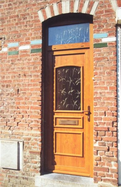 Porte PVC Chêne Doré Vermeer