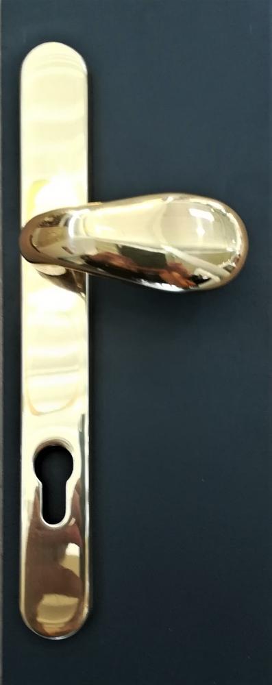Poignée de porte en laiton poli Thema