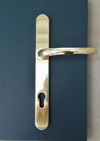 Poignée de porte en laiton poli Vega