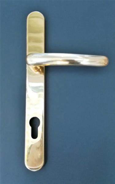 Poignée de porte en laiton poli Xenia
