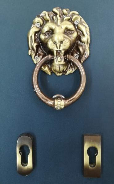 Poignée de porte en laiton Bronze Leone