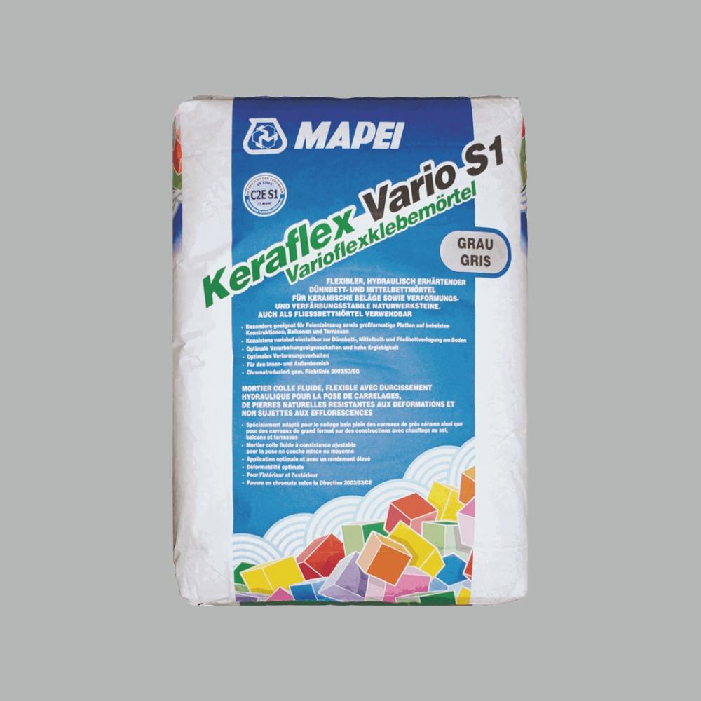 Keraflex Vario S1 Gris sac 25kg - Ciment-colle haute déformabilité