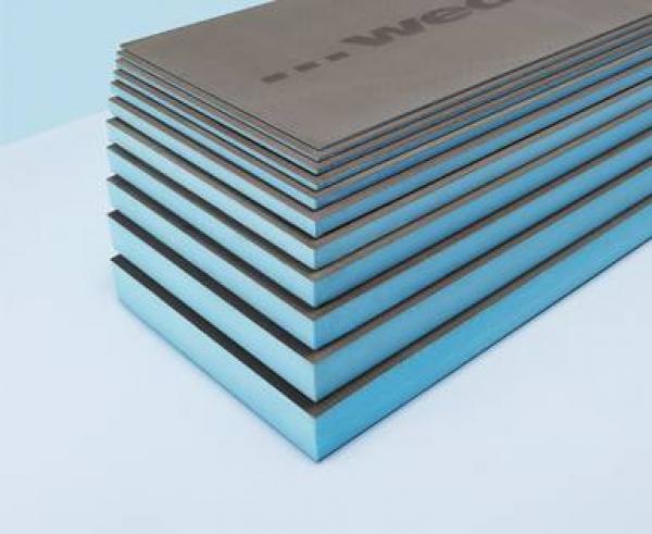 Panneau de construction WEDI 1,25x0,60m x 4mm d'épaisseur
