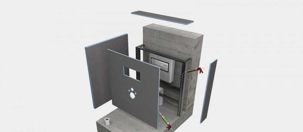 Wedi I-Board - Élément pour bâti-support de wc