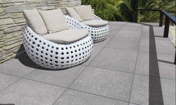 T St. Light Grey Rustico Rectifié et Biseauté 60/60 x 20 mm - EN STOCK - LOT de 29,20 m²